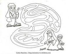 preschool coloring pages woman at the well woman at the well maze picture 26 woman at the well pinterest
