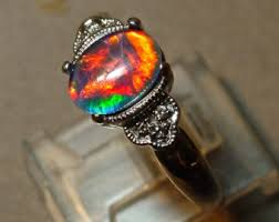vintage opal engagement rings opal engagement ring etsy