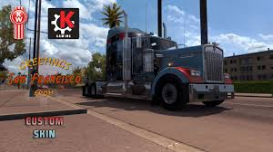 kenworth t900 san francisco khross custom skin kenworth w900 mod for american