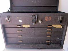 Kennedy Tool Box Side Cabinet Huge Old Vintage 1950s Kennedy Machinist Tool Box 7 Drawers