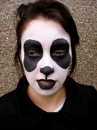 Bear Halloween Makeup by Panda Face Painting Little Painted As Bear Isolated White