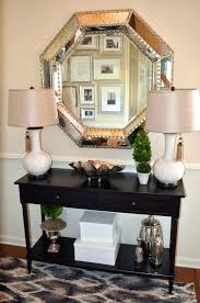 Mirror And Table For Foyer Foyer Console Tables How To Decorate A Console Table Top Seeing