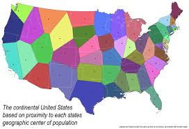 A United States Map by Maptitude U2014 A Voronoi Map Of The United States By Each Current