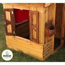 kidkraft wooden outdoor playhouse kit