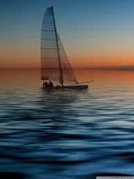 boat at sea hd desktop wallpaper widescreen high definition