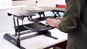 Sit To Stand Desk Converter by Pro Plus 30 Height Adjustable Standing Desk Video Varidesk