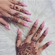 baby pink matte nails with henna accessories pinterest matte
