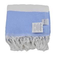 Cornflower Blue Bathroom by Cornflower Blue U0026 White Diamond Thin Peshtemal Turkish Bath