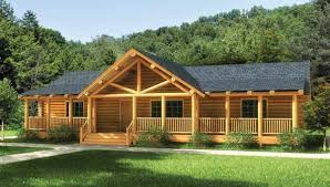 one log cabin floor plans the swan valley log home plan has everything you need on one floor