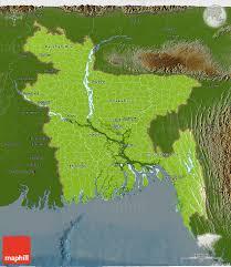 Map Of Bangladesh Physical 3d Map Of Bangladesh Darken