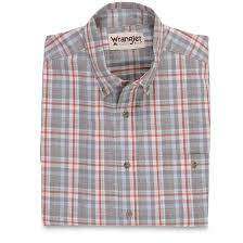 wrangler men u0027s blue ridge short sleeve plaid shirt 676412