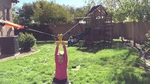 backyard zipline youtube