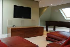 attic conversion to tv room and home cinema