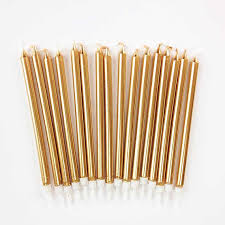 gold birthday candles gold birthday candles 16 five inch gold tapers