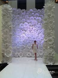 wedding decorations rentals paper flower wall 11 x 16 for rental white or ivory flowers for