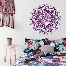 Wall Decals Vinyl Sticker Mandala by Aliexpress Com Buy Art Home Decor Mandala Yoga Flower Wall Decal