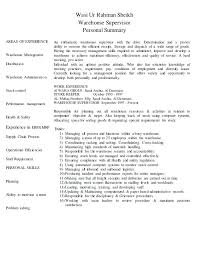 Resume Summary For Warehouse Worker Sample Resume For Warehouse Position Example Perfect Resume Resume