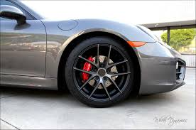 red porsche black wheels powder coated calipers coming