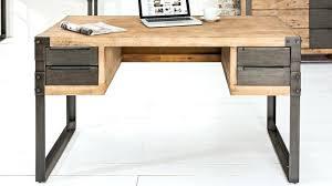 bureau industriel bureau bois et metal bureau design bois et blanc metal with bureau