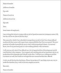 job letter template