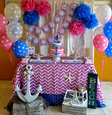 pink u0026 blue nautical party birthday party ideas u0026 themes