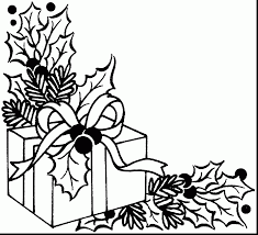 extraordinary xmas coloring pages present coloring