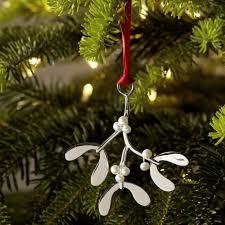 sterling silver pearl mistletoe decoration