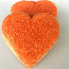 heart shaped cookies orange heart shaped sugar cookies 16 cookies 2 5 superlove
