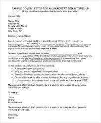 cover letter name 8 sle cover letter for internships