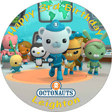 octonauts cake toppers octonauts personalised printed birthday cake topper decoration