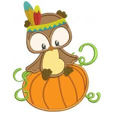 Thanksgiving Appliques Owl Machine Embroidery Designs And Applique Patterns