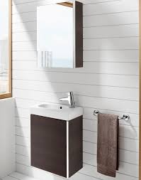 roca mini wenge finish cloakroom vanity unit and basin with