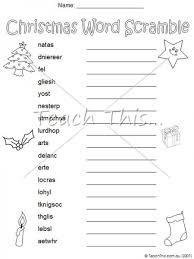 word scramble christmas teacher resources worksheets and