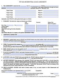free rental lease agreement download free nevada residential lease agreement pdf word doc