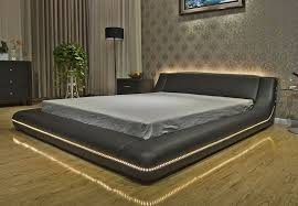 platform bed with led lights pietro platform bed with led lights jpg