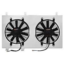electric radiator fans and shrouds mishimoto mmfs mus 79 mustang electric fan kit with aluminum shroud