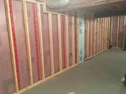 framing basement walls home decoration and improvement