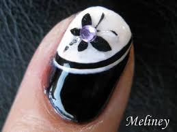 nail art tutorial black u0026 white butterfly trio sticker konad