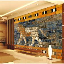3d brick wall painted lion painting a large mural wallpaper bedroom living room tv backdrop painting