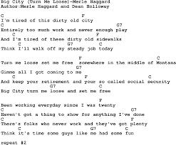 country music song big city turn me loose merle haggard lyrics