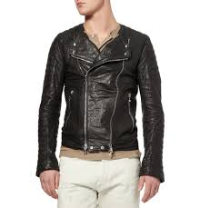 padded leather motorcycle jacket balmain goatskin biker leather jacket in black for men lyst