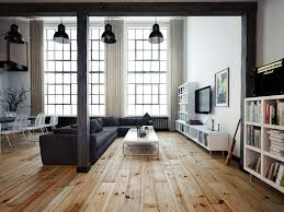 3 Stylish Industrial Inspired Loft Vintage Industrial Loft Wooden Flooring And Industrial Lamps