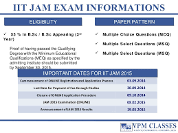 Jam Exam Pattern 2016 | iit jam 2015 exams details tips courses and free solved papers