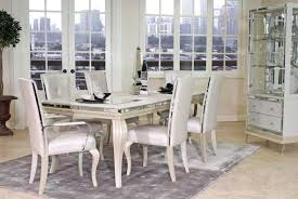 Aico Furniture Dining Room Sets The Hollywood Loft Dining Table Collection In Frost 14845