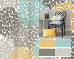 Turquoise And Grey Curtains Shower Curtain In Yellow Blue Gray Floral Standard And Extra