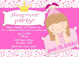sleepover party invites free printable sleepover birthday party invitations girls