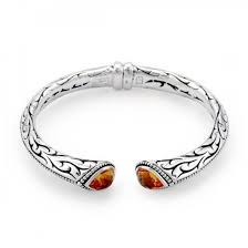 sterling silver engravable jewelry sterling silver citrine engraved cuff cypress bracelet