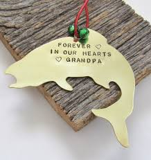 memorial ornament fishing grandfather remembrance ornament