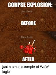 Explosion Meme - corpse explosion dung beetle before dung beetle after just a small