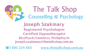 Hypnotherapy Business Cards Joseph Szakmary Psychologist And Hypnotherapist